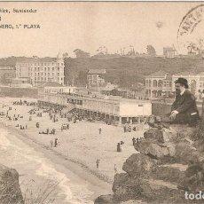 Postales: SANTANDER - EL SARDINERO.. M. ALBIRA C.CIRCULADA EN 1914. Lote 243018035