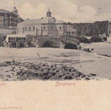 Postales: SANTANDER, SARDINERO LA CAPILLA. ED. RÖMMLER & JONAS DRESDEN. REVERSO SIN DIVIDIR. CIRCULADA EN 1908. Lote 243911245