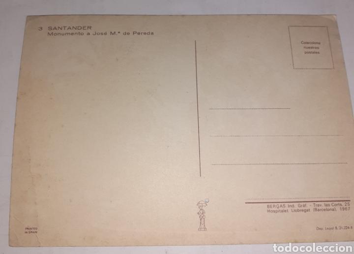 Postales: Santander monumento a José m de pereda - Foto 2 - 249193520