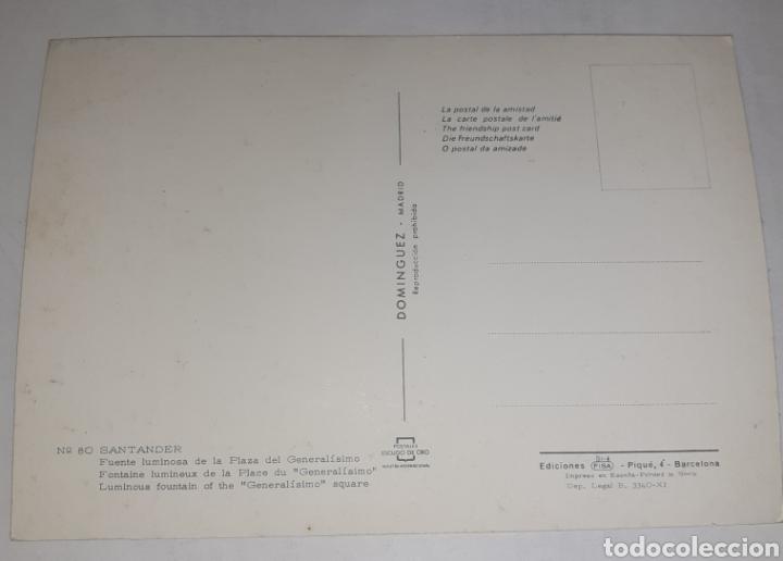 Postales: Santander fuente luminosa de la plaza del generalísimo - Foto 2 - 249194035