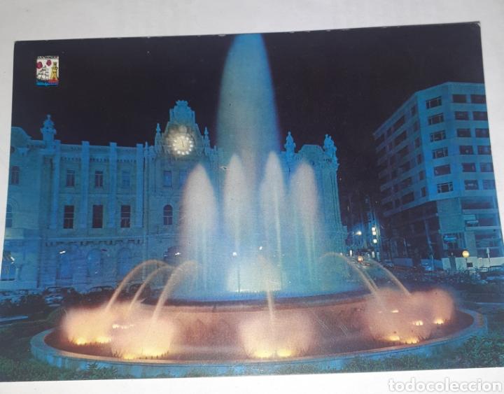 SANTANDER FUENTE LUMINOSA DE LA PLAZA DEL GENERALÍSIMO (Postales - España - Cantabria Antigua (hasta 1.939))