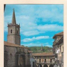 Postais: POSTAL AYUNTAMIENTO Y PLAZA DEL GENERALISIMO. COMILLAS (1985). Lote 251060655