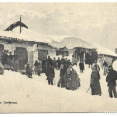 Postales: REINOSA EN INVIERNO - SIN EDITOR - CIRCULADA AÑO 1912. Lote 251411730