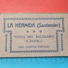 Postales: BLOCK DE 10 POSTALES DE ' LA HERMIDA - VISTAS DEL BALNEARIO Y PUEBLO ' - CANTABRIA -- ( BLOCK 2021 ). Lote 251787990