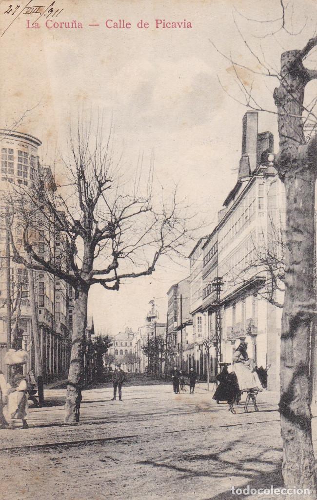 LA CORUÑA, CALLE DE PICAVIA. ED. PC. ESCRITA EN 1911 (Postales - España - Cantabria Antigua (hasta 1.939))