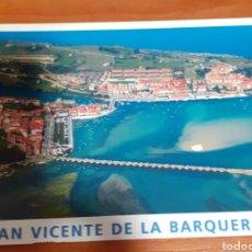 Postales: PUERTO DE LA MAZA Y PUEBLO SAN VICENTE DE LA BARQUERA. Lote 254631325