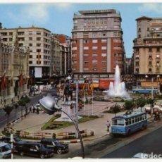 Postales: EM0550 SANTANDER PLAZA DEL GENERALISIMO Y AYUNTAMIENTO 1969 ALSAR Nº78 TROLEBUS SEAT 600 1500. Lote 255340195