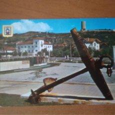 Postales: LAREDO (CANTABRIA) - JARDINES Y MONUMENTO AL PESCADOR (ESCRITA Y CIRCULADA). Lote 256024590