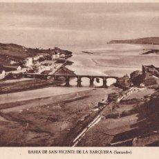 Cartes Postales: BAHIA DE SAN VICENTE DE LA BARQUERA (SANTANDER). NO CONSTA EDITOR. SIN CIRCULAR. Lote 258772590
