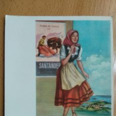 Cartoline: TARJETA POSTAL TRAJE TIPICO PLAZA DE TOROS SANTANDER ILUSTRADOR J. BRIONES. Lote 259299000