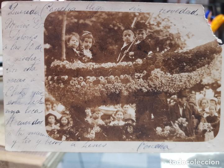 ANTIGUA FOTOGRAFIA CARROZA BATALLA FLORES POSIBLEMENTE LAREDO SANTANDER CANTABRIA 1902 (Postales - España - Cantabria Antigua (hasta 1.939))