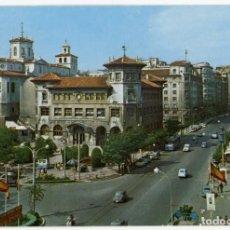 Postales: EM0867 SANTANDER AVENIDA CALVO SOTELO 1968 ESCUDO DE ORO Nº97 SEAT 600 RENAULT 4 VESPA BUS. Lote 262666535