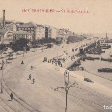 Postais: (2170) POSTAL SANTANDER - CALLE DE CASTELAR - 1307 ED. V.POBLADOR - S/CIRCULAR. Lote 262813220