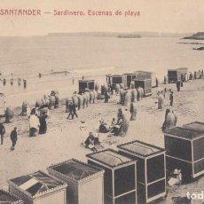 Postais: (2174) POSTAL SANTANDER - SARDINERO. ESCENAS DE PLAYA - 1304 ED. V.POBLADOR - S/CIRCULAR. Lote 262813505
