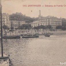Postais: (2176) POSTAL SANTANDER - DÁRSENA DE PUERTO CHICO - 1313 ED. V.POBLADOR - S/CIRCULAR. Lote 262813705