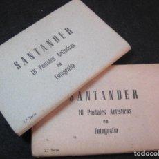 Postales: SANTANDER-LOTE DE 2 BLOC DE POSTALES-20 POSTALES FOTOGRAFICAS-MANIPEL-VER FOTOS-(80.893). Lote 264440719