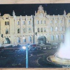 Postales: POSTAL - AYUNTAMIENTO Y FUENTE LUMINOSA - SANTANDER (CANTABRIA) FOTO ALSAR. Lote 268827204