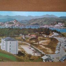 Postales: SAN VICENTE DE LA BARQUERA (CANTABRÍA) - CAMPING 4 VISTA PARCIAL (ESCRITA Y CIRCULADA). Lote 268924449