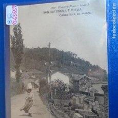 Postales: (PS-65659)POSTAL DE SAN ESTEBAN DE PRAVIA-CARRETERA DE MUROS.HAUSER Y MENET. Lote 269246348