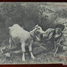 Postales: POSTAL EL SABOR DE LA TIERRUCA POR J. G. DE LA PUENTE. 1 LOS AMORES DEL PASTOR. SANTANDER. NO CIRCUL. Lote 269416353