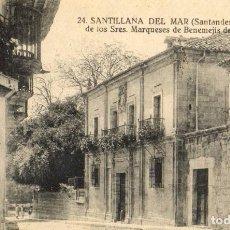 Postales: POSTAL ANTIGUA-SANTILLANA DEL MAR -SANTANDER-PALACIO MARQUESES BENEMEJISDE LISTALLO. Lote 271391998