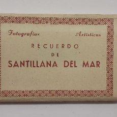 Postales: RECUERDO DE SANTILLANA DEL MAR BLOC 12 FOTOGRAFIAS ARTISTICAS 9 X 5,5 CM POSTAL. EDICIONES DOMINGUEZ. Lote 275643288