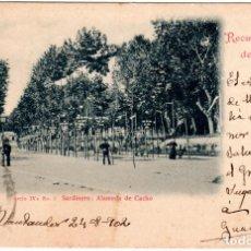 Postales: PRECIOSA POSTAL - RECUERDO DE SANTANDER - FOTO DUOMARCO - SERIE IVA-Nº.2-SARDINERO: ALAMEDA DE CACHO. Lote 276579748