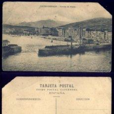 Postales: 1161 - ESPAÑA CANTABRIA CASTRO URDIALES / ENTRADA DEL MUELLE - POSTAL 1920'. Lote 277166523