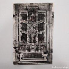 Postales: POSTAL SANTILLANA. ALTAR MAYOR DE LA COLEGIATA (CANTABRIA). SIN ESCRIBIR. ARRIBAS Nº 1001 SANTANDER. Lote 277617898