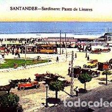 Postales: POSTAL SANTANDER SARDINERO PASEO DE LINARES. Lote 277689713