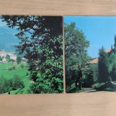Postales: POSTALES SANTUARIO DE LA BIEN APARECIDA. MARRON-AMPUERO. 1 Y 14. SANTUARIO Y PANORÁMICA. Lote 278629973