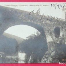 Postales: PUENTE VIESGO POSTAL FOTOGRÁFICA ANIMADA 1917. Lote 280303853