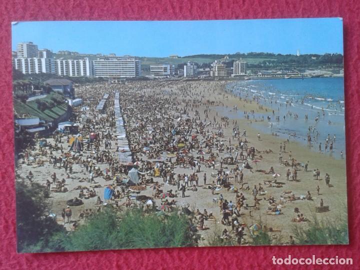 POST CARD CARTE POSTALE POSTKARTE SANTANDER CANTABRIA EL SARDINERO 2ª PLAYA BAÑISTAS ALMACENES RODU (Postales - España - Cantabria Moderna (desde 1.940))