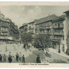 Cartoline: LAREDO. PLAZA DEL GENERALÍSIMO. FOTO L. ROISIN, BARCELONA, Nº 6 (DÉCADA DE1940). NO ESCRITA.. Lote 285333123