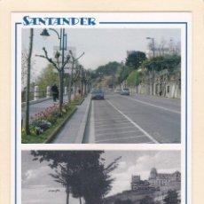 Postales: SANTANDER. PASEO DE REINA VICTORIA EN 2005 Y APROX. EN 1920 (2005). Lote 288075663