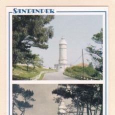 Postales: SANTANDER. FARO DE CABO MAYOR EN 2005 Y APROX. EN 1950 (2005). Lote 288076018