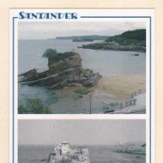 Postales: SANTANDER. PLAYA DEL CAMELLO EN 2005 Y APROX. EN 1910 (2005). Lote 288105723