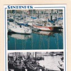 Postales: SANTANDER. DARSENA DE MOLNEDO EN 2005 Y APROX. EN 1910 (2005). Lote 288105868