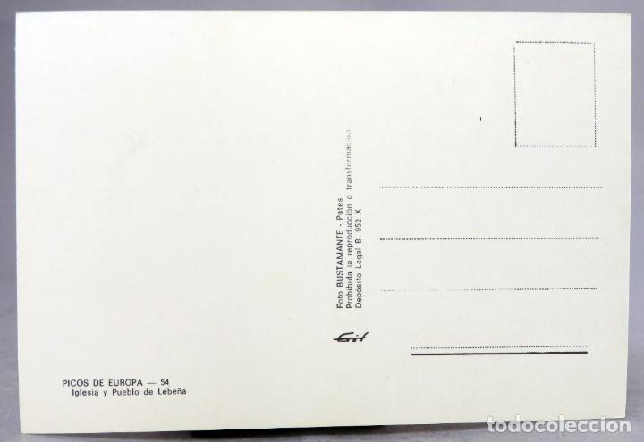 Postales: Postal Picos Europa Lebeña iglesia y pueblo Foto Bustamante años 60 sin circular - Foto 2 - 288683963