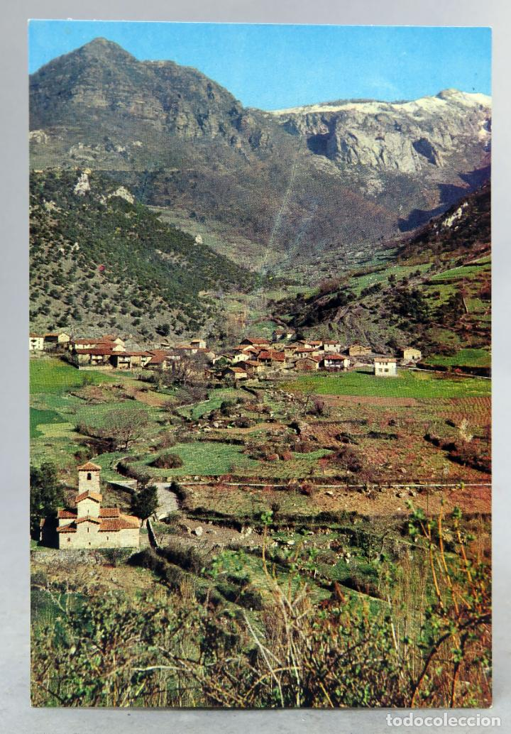 POSTAL PICOS EUROPA LEBEÑA IGLESIA Y PUEBLO FOTO BUSTAMANTE AÑOS 60 SIN CIRCULAR (Postales - España - Cantabria Moderna (desde 1.940))