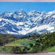 Postales: POSTAL PICOS EUROPA DESDE LA CARRETERA POTES A ESPINAMA FOTO BUSTAMANTE AÑOS 60 SIN CIRCULAR. Lote 288684418