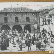 Postales: COMILLAS (CANTABRIA) EL MERCADO, 14 M. SOLIS EDITOR, SIN CIRCULAR. Lote 290487058