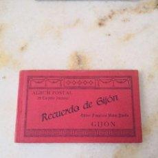Postales: RECUERDO DE GIJÓN ÁLBUM POSTAL 20 TARJETAS EDITOR FRANCISCO MATOS DÁVILA ENVÍO CERTIFICADO 4,99. Lote 292596848