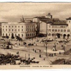 Postales: BONITA POSTAL - SANTANDER - AVENIDA DE ALFONSO XIII. Lote 293291228