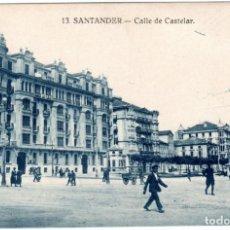 Postales: BONITA POSTAL - SANTANDER - CALLE DE CASTELAR. Lote 293445723