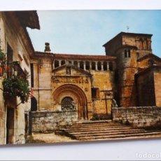 Postales: POSTAL - SANTILLANA DE MAR - SANTANDER - LA COLEGIATA. Lote 294859653