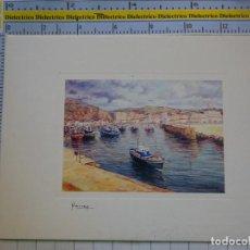 Postales: POSTAL DE CANTABRIA. LAREDO. AÑO 1993. PINTURA OLEOS DE MARNAY. PUERTO PESQUERO. 1438. Lote 295517603