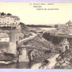 Postales: TARJETA POSTAL DE TOLEDO. PUENTE DE ALCANTARA. 53. HAUSER Y MENET. - MADRID.. Lote 3749837