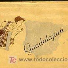 Postales: GUADALAJARA.- TIRA/ACORDEÓN CON 10 POSTALES DISTINTAS. COLOREADAS A MANO.. Lote 19982221