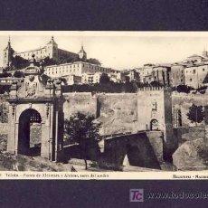 Postales: POSTAL DE TOLEDO: PUENTE DE ALCANTARA Y ALCAZAR ANTES DEL ASEDIO (HELIOTIPIA NUM.5). Lote 5969171